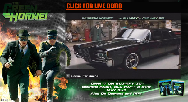 Sony Pictures: The Green Hornet launch demo