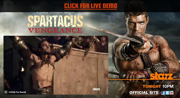starz spartacus launch demo